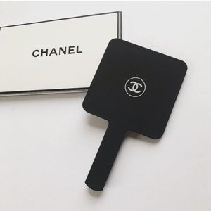 Chanel Handheld Mirror in Black Acrylic